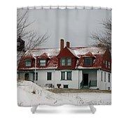 Snow At Point Betsie Shower Curtain