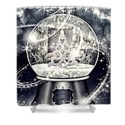 Snow Ball Shower Curtain by Mo T