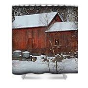 Snow Barn II Shower Curtain