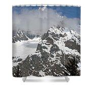 Snow Bowl In Italian Alps Shower Curtain