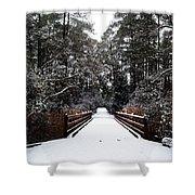 Snow Bridge Shower Curtain