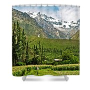 Snow-capped Andes Mountains With Snowline Above 17000 Feet-peru Shower Curtain