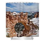 Snow Capped Arch At Bryce Shower Curtain