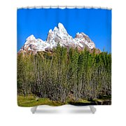 Snow-capped Shower Curtain