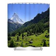 Snow-capped Matterhorn Shower Curtain