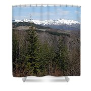 Snow Capped View Shower Curtain