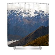 Snow Clouds In The Andes Shower Curtain