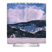 Snow Clouds - Winter - Ice Shower Curtain