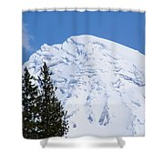 Snow Cone Mountain Top Shower Curtain