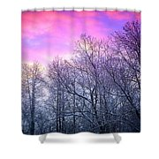 Snow Cone Skies Shower Curtain