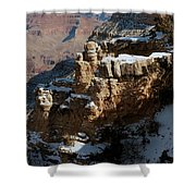 Snow Covered Grand Canyon Shower Curtain