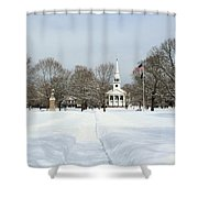 Snow Covered Guilford Shower Curtain
