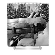 Snow Covered History Shower Curtain