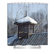 Snow Cupola Shower Curtain