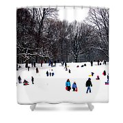 Snow Day - Fun Day Shower Curtain
