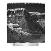 1m3722-bw-snow Dome  Shower Curtain