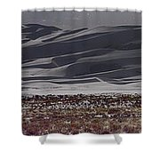 Snow Dunes By Night Shower Curtain