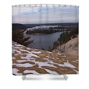 Snow Dunes Shower Curtain