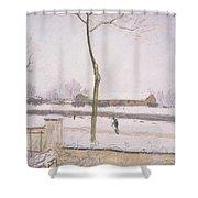 Snow Effect Effet De Neige Pastel On Paper C. 1880-1885 Shower Curtain