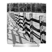 Snow Fence Shower Curtain