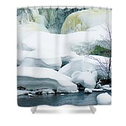 Snow Formations Shower Curtain