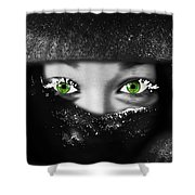 Snow Girl Square Shower Curtain