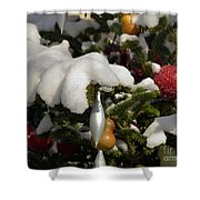 Snow Hands Shower Curtain