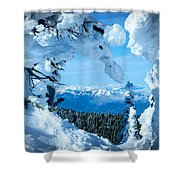Snow Heart Shower Curtain