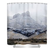 Snow In Big Bend Shower Curtain