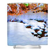 Snow In Color Shower Curtain