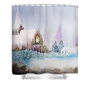 Snow In Florida Shower Curtain by David Kacey