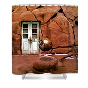 Snow In Joshua Tree Shower Curtain