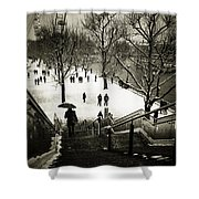 Snow In London Shower Curtain
