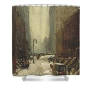 Snow In New York Shower Curtain