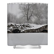 Snow In Plymouth Meeting Pa Shower Curtain