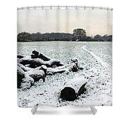 Snow In Surrey England Shower Curtain