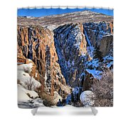 Snow In The Black Canyon Shower Curtain