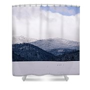 Snow In The Blue Ridge Mountains Shower Curtain
