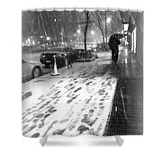 Snow In The City Shower Curtain