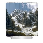 Snow In The Dolomites Shower Curtain