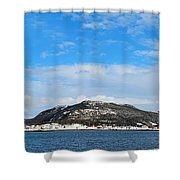 Snow In The Harbour Shower Curtain