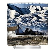 Snow In The Mountains Shower Curtain