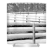 Snow In The Pasture Shower Curtain