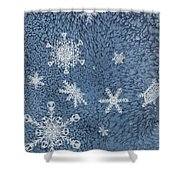 Snow Jewels Shower Curtain