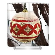 Snow Just In Time For Christmas Shower Curtain