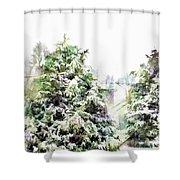 Snow Laden - Digital Effect IIi Shower Curtain