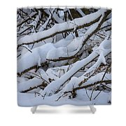 Snow Laden Shower Curtain