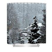 Snow Landscape Shower Curtain