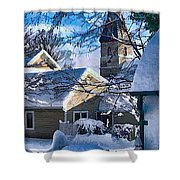 Snow On Back Alley - Shepherdstown Shower Curtain