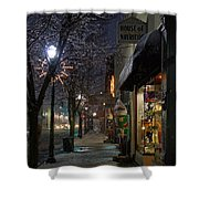 Snow On G Street 3 - Old Town Grants Pass Shower Curtain